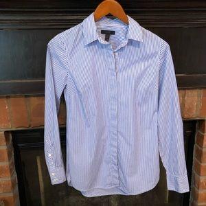 J. Crew sz 0 striped button down shirt